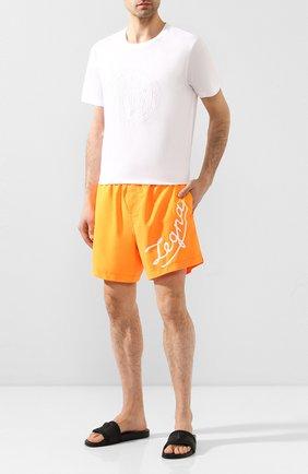 Детского плавки-шорты ERMENEGILDO ZEGNA оранжевого цвета, арт. N7B540920 | Фото 2