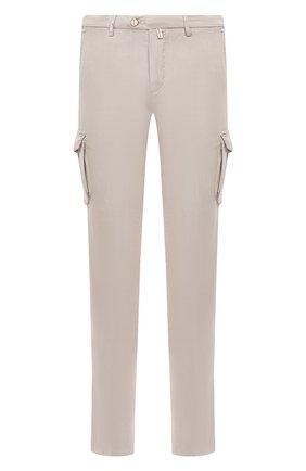 Мужские хлопковые брюки-карго KITON светло-бежевого цвета, арт. UFPPCAJ07S44 | Фото 1
