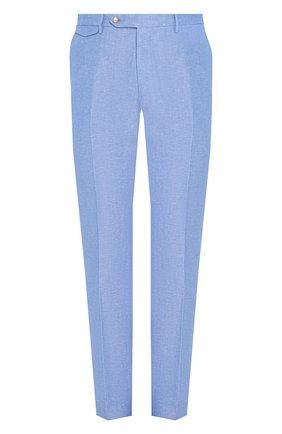 Мужской брюки из смеси льна и хлопка BERWICH голубого цвета, арт. VULCAN0/AN1226 | Фото 1
