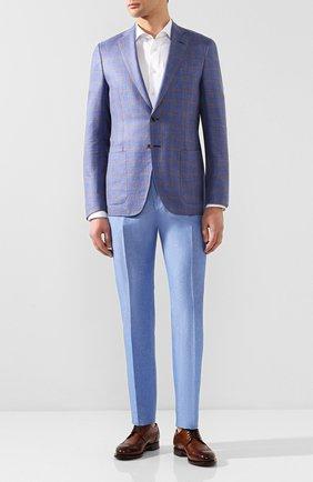 Мужской брюки из смеси льна и хлопка BERWICH голубого цвета, арт. VULCAN0/AN1226 | Фото 2