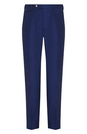 Мужской брюки из смеси льна и хлопка BERWICH темно-синего цвета, арт. VULCAN0/AN1226 | Фото 1