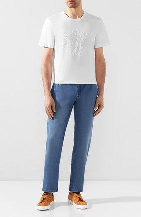 Мужские джинсы ZILLI голубого цвета, арт. MCT-00089-DESU1/R001 | Фото 2