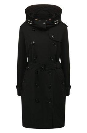 Женский тренч kensington BURBERRY черного цвета, арт. 8006111 | Фото 1 (Материал внешний: Синтетический материал; Рукава: Длинные; Материал подклада: Синтетический материал; Стили: Классический)