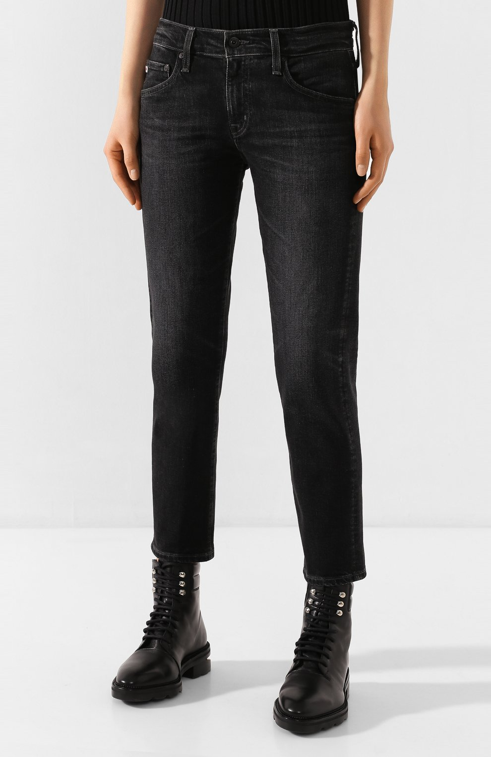 Женские джинсы AG серого цвета, арт. STS1575/05YRSV | Фото 3