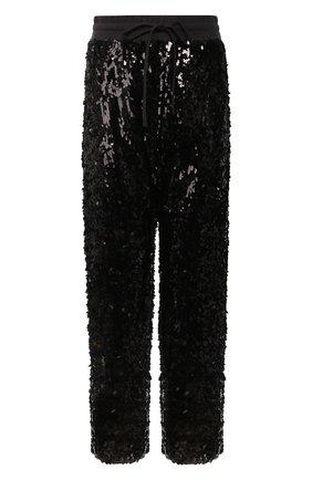 Женские брюки с пайетками R13 черного цвета, арт. R13W7645-41   Фото 1