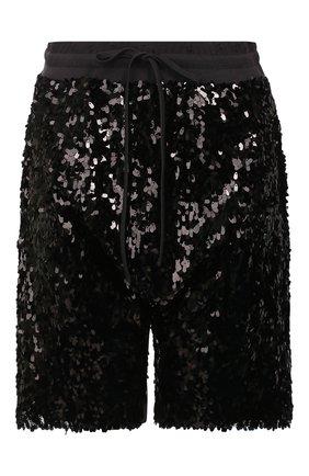 Женские шорты с пайетками R13 черного цвета, арт. R13W3878-41 | Фото 1