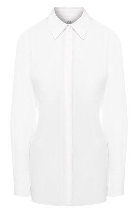 Женская хлопковая рубашка VICTORIA, VICTORIA BECKHAM белого цвета, арт. 2220WSH001026B | Фото 1