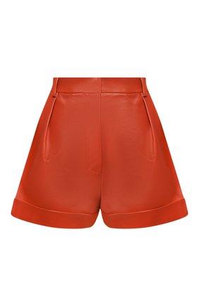 Женские кожаные шорты VALENTINO оранжевого цвета, арт. TB0NH01P1AW | Фото 1