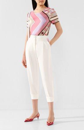 Женские брюки EMILIO PUCCI белого цвета, арт. 0HRT20/0H679 | Фото 2