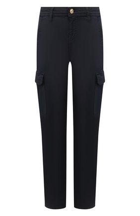 Женские брюки из смеси хлопка и вискозы 7 FOR ALL MANKIND темно-синего цвета, арт. JSL3V950NV | Фото 1