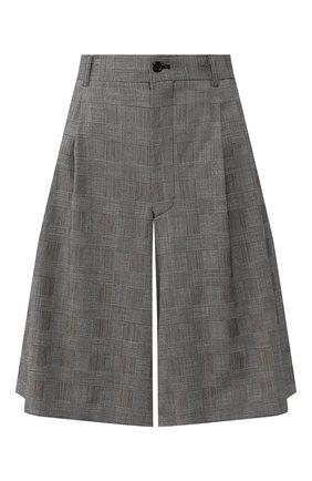 Женские шерстяные шорты COMME DES GARCONS серого цвета, арт. GE-P024-051 | Фото 1