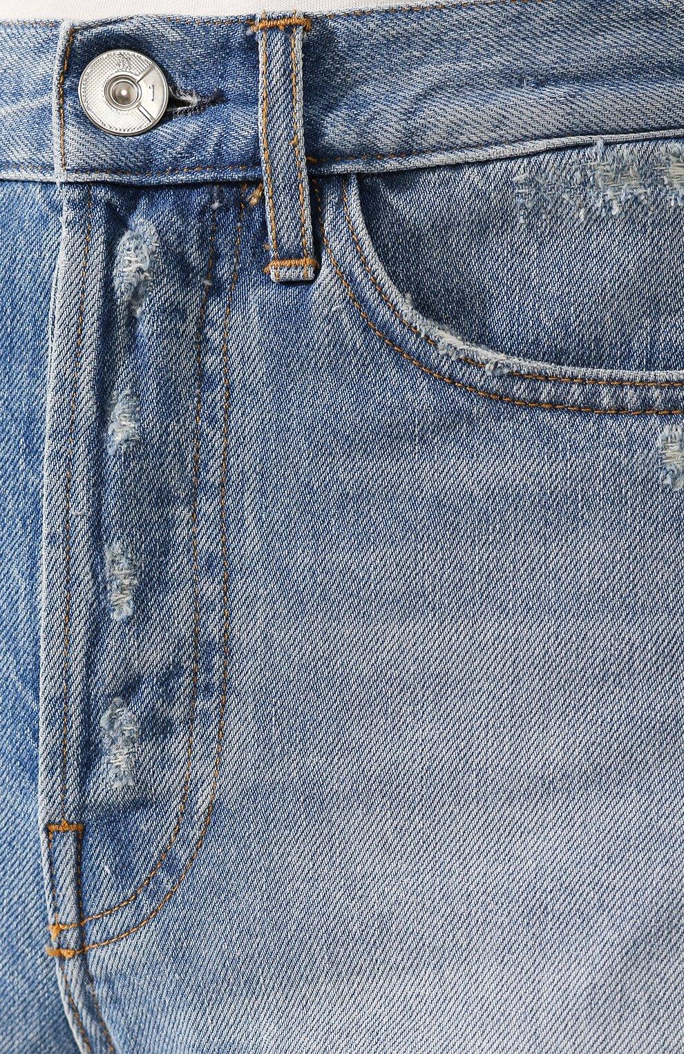 Женские джинсовые шорты 3X1 голубого цвета, арт. WSXSB0866/LEAH | Фото 5 (Женское Кросс-КТ: Шорты-одежда; Кросс-КТ: Деним; Длина Ж (юбки, платья, шорты): Мини; Материал внешний: Хлопок; Стили: Кэжуэл)