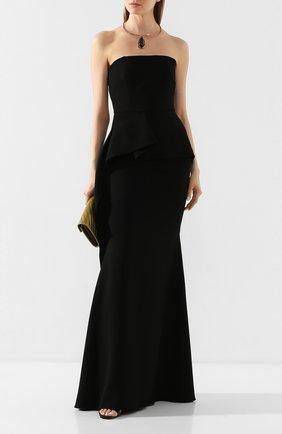 Женское платье-макси ROLAND MOURET черного цвета, арт. EW20/S0977/F4044 | Фото 2