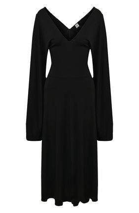 Женское платье TOTÊME черного цвета, арт. B0LBEC 202-611-771 | Фото 1
