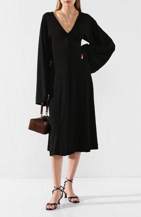 Женское платье TOTÊME черного цвета, арт. B0LBEC 202-611-771 | Фото 2