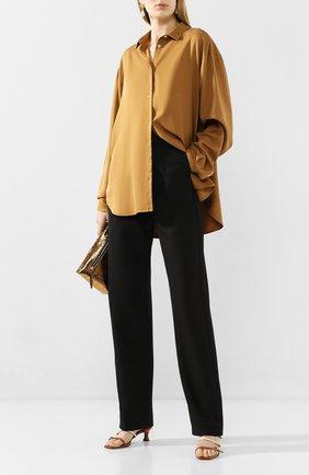 Женская шелковая рубашка TOTÊME коричневого цвета, арт. BENICIA 201-703-716 | Фото 2