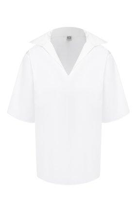 Женская хлопковая рубашка TOTÊME белого цвета, арт. LIRY 201-701-710 | Фото 1
