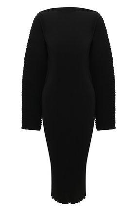 Женское платье TOTÊME черного цвета, арт. MIA VANA 202-609-723 | Фото 1