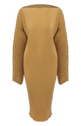 Женское платье TOTÊME бежевого цвета, арт. MIA VANA 202-609-723 | Фото 1