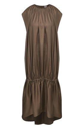 Женское платье TOTÊME коричневого цвета, арт. PRET0RIA 202-603-711 | Фото 1