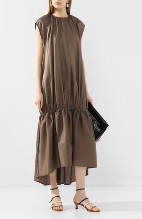 Женское платье TOTÊME коричневого цвета, арт. PRET0RIA 202-603-711 | Фото 2