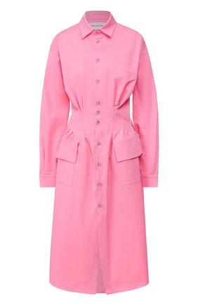 Женское хлопковое платье NATASHA ZINKO розового цвета, арт. SS20101-09 | Фото 1