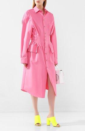Женское хлопковое платье NATASHA ZINKO розового цвета, арт. SS20101-09 | Фото 2