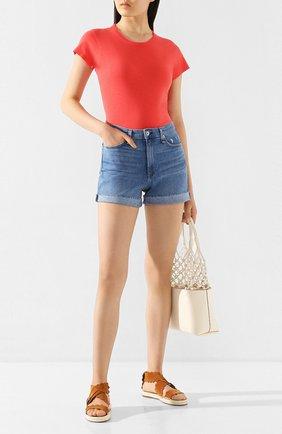 Женские джинсовые шорты RAG&BONE синего цвета, арт. WDD20S1901CLPL | Фото 2