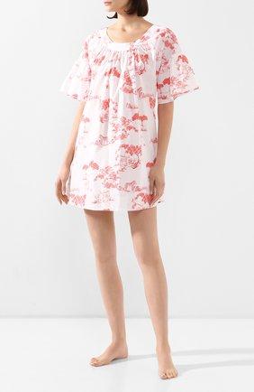 Женская хлопковая сорочка LE CHAT белого цвета, арт. HARMATTAN840   Фото 2