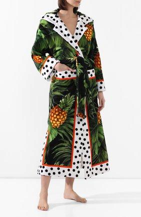 Женский хлопковый халат DOLCE & GABBANA разноцветного цвета, арт. 00A03J/FP6NA | Фото 2