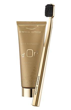 Набор: гелеобразная зубная паста d'or + ультра-мягкая зубная щетка SWISS SMILE бесцветного цвета, арт. 7640131976107 | Фото 2