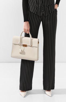 Женская сумка bianca SAINT LAURENT белого цвета, арт. 608976/02G0W | Фото 2