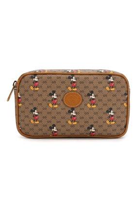 Мужская поясная сумка disney x gucci GUCCI коричневого цвета, арт. 602695/HWUBM   Фото 1