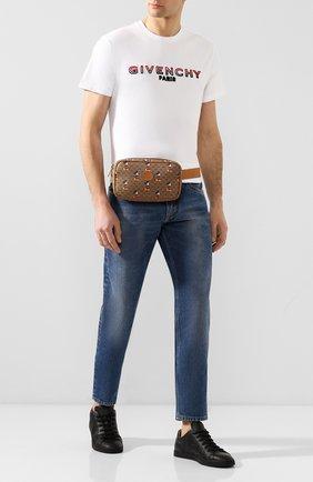 Мужская поясная сумка disney x gucci GUCCI коричневого цвета, арт. 602695/HWUBM   Фото 2