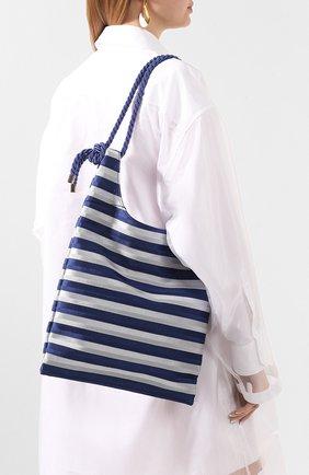 Женская сумка-шопер GIORGIO ARMANI синего цвета, арт. Y1D151/YFQ1A | Фото 2