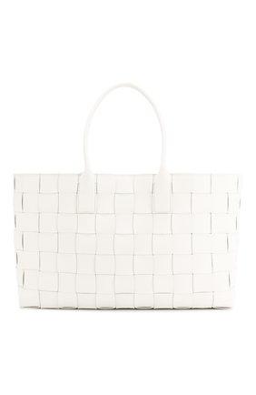 Женская сумка-шопер BOTTEGA VENETA черно-белого цвета, арт. 607668/VMAY3 | Фото 1