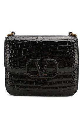 Женская сумка valentino garavani vsling small из кожи аллигатора VALENTINO черного цвета, арт. TW2B0F01/XDE/AMIS | Фото 1