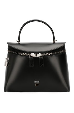 Женская сумка TOM FORD черного цвета, арт. L1291P-LCL056 | Фото 1 (Материал: Натуральная кожа; Сумки-технические: Сумки top-handle; Размер: medium)