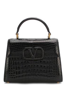 Женская сумка valentino garavani vsling из кожи аллигатора VALENTINO черного цвета, арт. TW2B0F53/XDE/AMIS | Фото 1