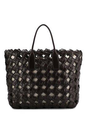 Женская сумка bv window BOTTEGA VENETA коричневого цвета, арт. 608606/VCQJ1 | Фото 1