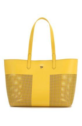 Женская сумка t tote TOM FORD желтого цвета, арт. L1285T-ICL002 | Фото 1