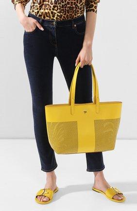Женская сумка t tote TOM FORD желтого цвета, арт. L1285T-ICL002 | Фото 2