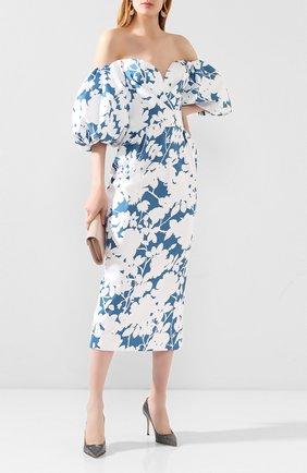 Женская текстильные туфли godiva SERGIO ROSSI серебряного цвета, арт. A43843-MTEL21 | Фото 2