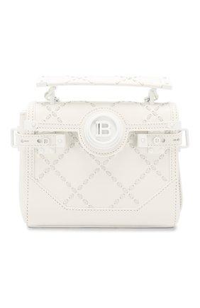 Женская сумка bbuzz 18 BALMAIN белого цвета, арт. TN0S477/LMCR | Фото 1
