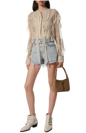 Женские кожаные ботинки susanna CHLOÉ белого цвета, арт. CHC16A13475 | Фото 3