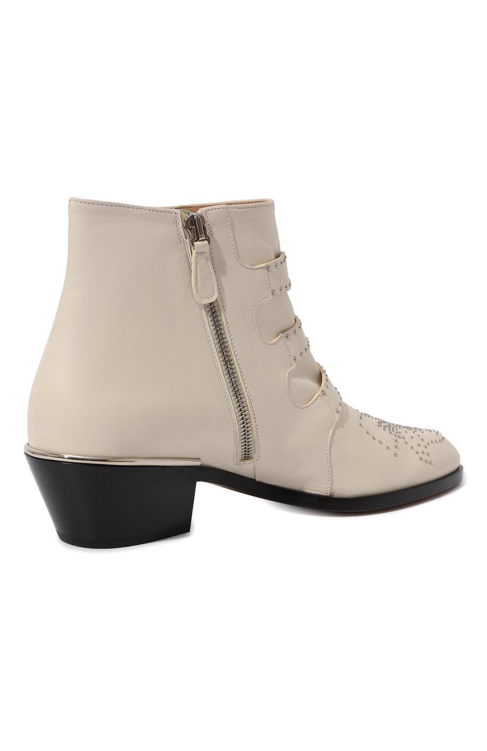 Женские кожаные ботинки susanna CHLOÉ белого цвета, арт. CHC16A13475 | Фото 5