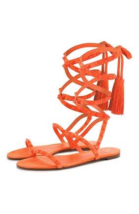 Замшевые сандалии Rockstud Flair | Фото №1