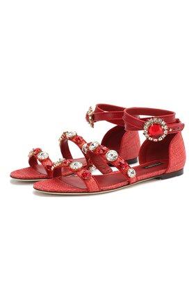 Комбинированные сандалии Bianca | Фото №1