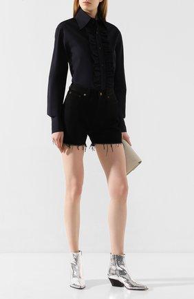 Женские кожаные ботинки carla SERGIO ROSSI серебряного цвета, арт. A89360-MCAL09 | Фото 2