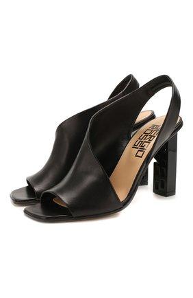 Женские кожаные босоножки super heel SERGIO ROSSI черного цвета, арт. A89950-MAGN05 | Фото 1